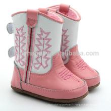 Chaussures fille belle chaussures bottes roses bottes enfants en plein air en gros