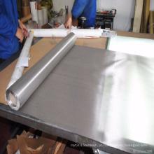 O engranzamento de fio de aço inoxidável da malha 304 316 de aço inoxidável é usado para a filtragem / produto químico / borracha