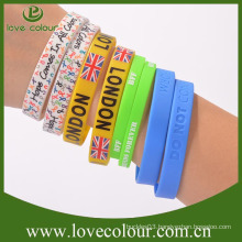 Factory bulk Colorful Recyclable silicone wristband free design