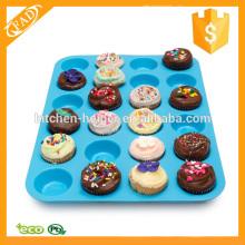 Grade alimentar Silicone 24 Cup Premium Cupcake Pan