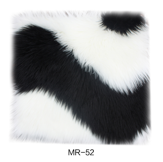 Plush Rug black and white color