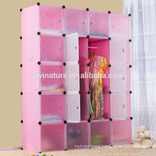 DIY 20 Interlocking Storage DEEP Cube Closet with Door