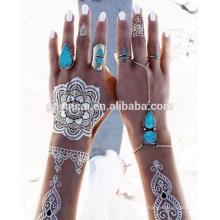 Tatouages au henné temporaires personnalisés (série de conception de mehndi)