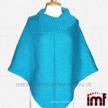 Plus Size Ladies Crochet Knit Pattern Poncho