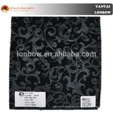 China stock artificial faux fake fur coat fabric paisley velvet blazer