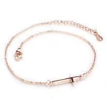 11 inch womens chain cross ankle bracelet