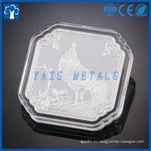Nueva moneda de plata del diseño de la serie del metal del estilo conmemorativa para el regalo