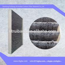 Manufatura filtro de mídia de carvão ativado pano de filtro de ar