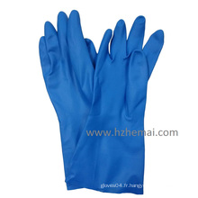 Gant de travail à base de nitrile bleu chimique long et long