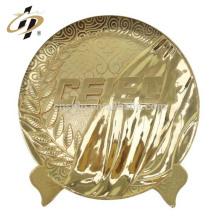 Chine Professionnel bon marché personnalisé logos logos 24k or souvenir anniversaire retour plaque de métal logo