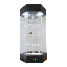 Klarer Acryl-LED-Beleuchtung rotierender Ausstellungsstandschrank