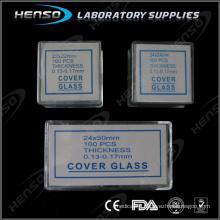Henso square microscope cover glass