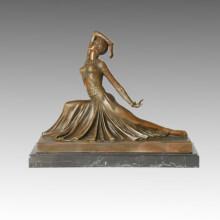 Bailarín Escultura de bronce Figura Clara Decor Estatua de latón TPE-176