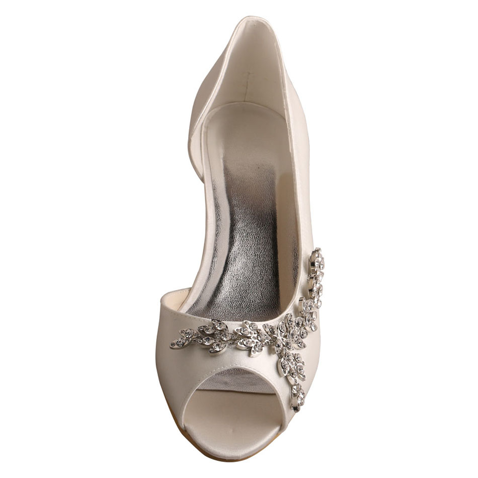 Wedding Shoes Ivory Satin