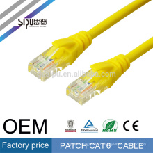 SIPU haute vitesse en option couleur 4 paires cavalier lan utp cat6 patch câble