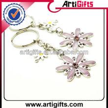 Llavero promocional del metal de la flor del hermoso diseño