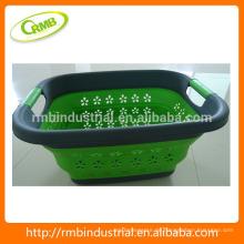 Faltbarer Kunststoff Wäschekorb; Badkorb; Kunststoff-Aufbewahrungskorb