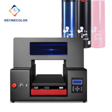 Refinecolor Factory Direct Sale High Resolution Digital Flatbed Automatic Uv Led Inkjet Printer Size a3 a2 Uv Printer