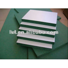 Tablero del mdf del color verde con los colores del papel de la melamina