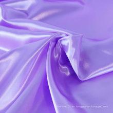 Venta caliente el color de la orquídea teñido de satén de satén de color chino tela