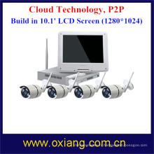 4 Écran d'affichage HD d'appareil-photo de WiFi de kit de Wi-Fi de NVR de caméra de WiFi de la Manche HD NVR