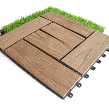 30X30 Embossed Interlocking Outdoor Co-Extrusion Waterproof WPC Composite Deck Tile