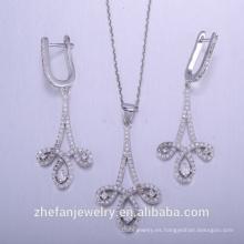 China fabrica collar de plata de ley 925 colgante exportado a todo el mundo