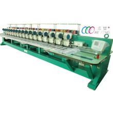16 cabeças misturadas lanteira dupla e máquina de bordar lisa