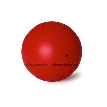 Bola de goma de silicona sólida de 18 mm con orificio