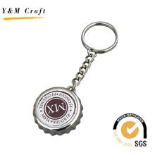 Металлическая Крышка от бутылки keychain с изготовленный на заказ Логосом (K03093)