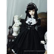 Bjd Robe noire de style occidental Anne pour poupée