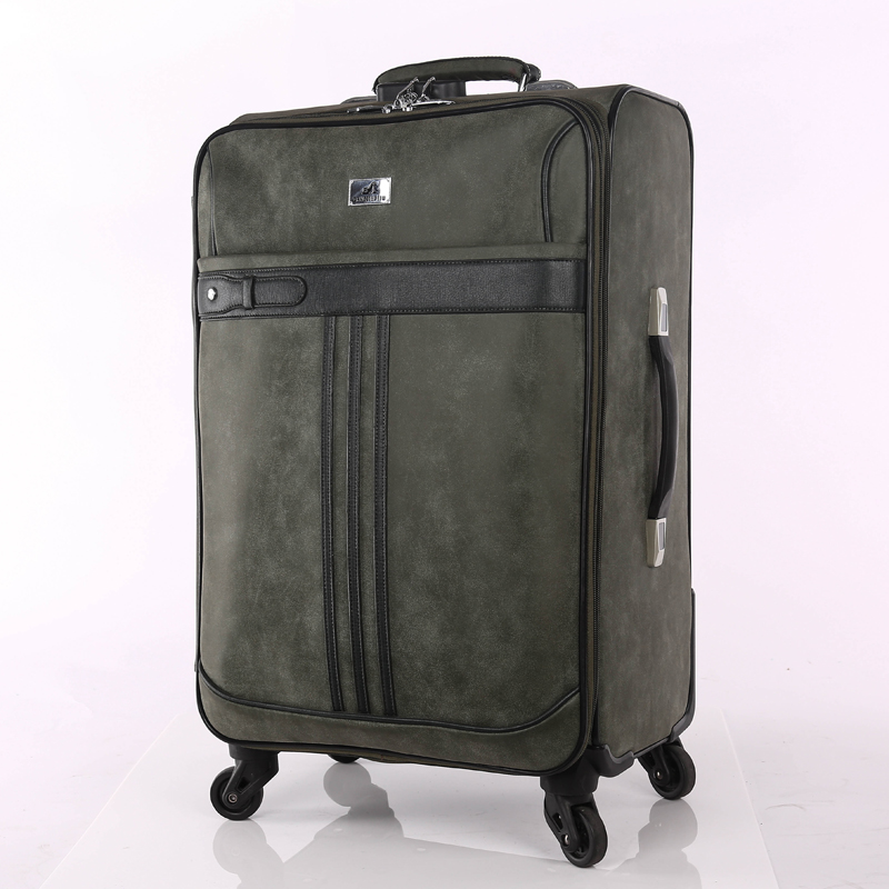 Different color PU luggage