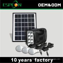 5 Watt Solarpanel 3 Watt 3 Stücke LED Glühbirne tragbare Solarenergie Lichtsystem für zu Hause Beleuchtung