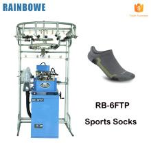 fabricant de chaussettes de sport coréen automatique professionnel orteils plats coton hommes faisant la machine