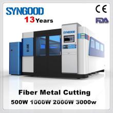 Máquina de corte del laser de la fibra de Syngood SG1530 (1000w 1500 * 3000m m) Special para el corte del metal