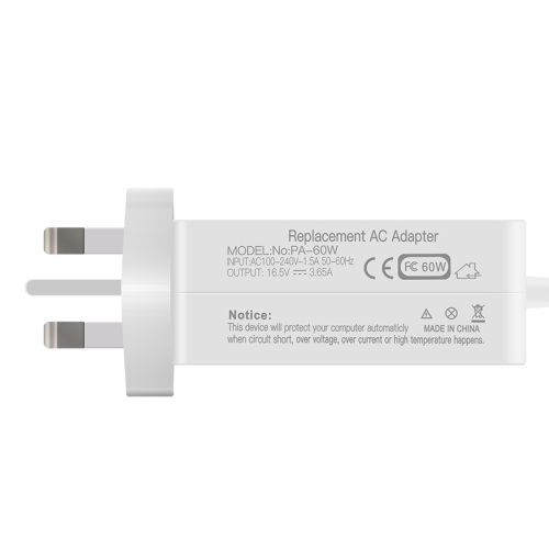 16.5V 3.65A Magsafe1 L Tip Macbook Charger Old