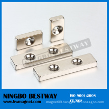 Large Block Magnets with Hole for Sale