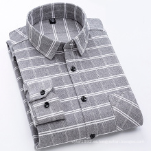 Camisa de hombre 100% algodón de franela