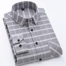 Camisa masculina de flanela 100% algodão