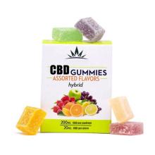Two arbitrary colors and flavors Cube CBD gummies Organic Hemp extract CBD gomitas Edibles