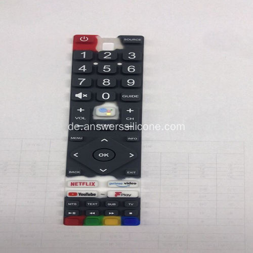 Silk Printing Silicon Rubber Remote Keypad für TV
