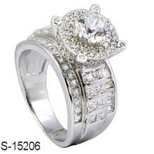 Новые ювелирные изделия стерлингового серебра 925 кольцо с бриллиантом