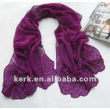 Factory price 175cmx52cm 17 colors ladies shawls scarf, can be MUSLIM HIJAB, 100% silk scarf