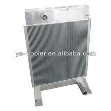 Теплообменник алюминиевый пластинчатый ребристый для теплообменника строительной машины / оребренной трубы / деталей строительного оборудования