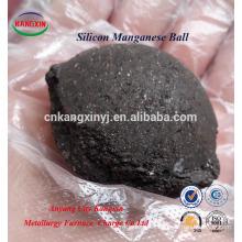 Forma de bola de Si-Mn / Mineral de manganeso de silicio utilizado en la fabricación de acero y fundición