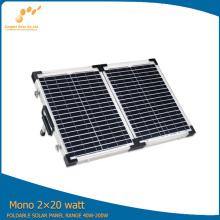 Panel solar monocristalino 2 * 20W para autocaravanas