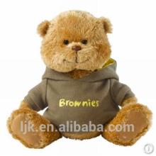 Maßgeschneiderte Plüschtiere benutzerdefinierte gefüllte Tiere Uniform Teddybär