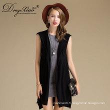 Chandail à manches longues en mousseline sans manches style automne-hiver d'Amazon Hot Style Lady