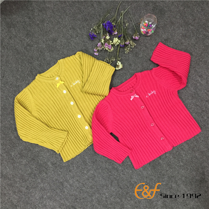 Convex ribs Knitted Sweater Front