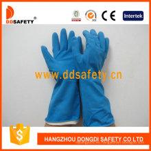 Bandada de látex azul Flock forrado Diamante Grip Beaded Cuff Household Guantes de trabajo DHL426